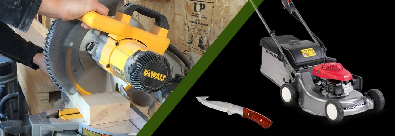 Aiguisage de couteaux et d'outils de coupe pour le secteur des particuliers